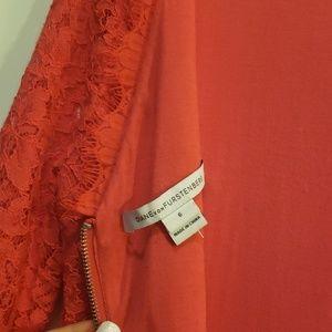 Diane Von Furstenberg Dresses - Diane VonFurstenberg Red Zarita Lace Dress